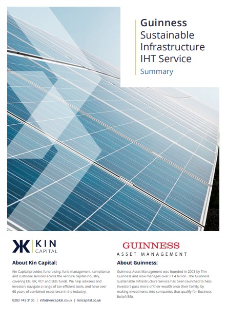 Guinness Sustainable Infrastructure IHT Service Summary cover