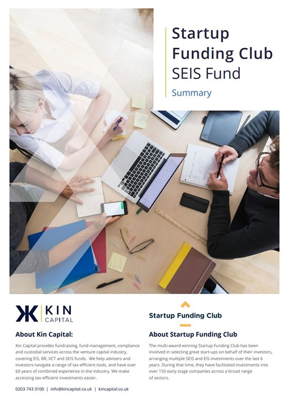 Startup Funding Club SEIS Fund cover