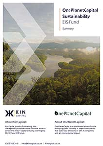 Kin Capital One Planet Capital EIS Fund cover